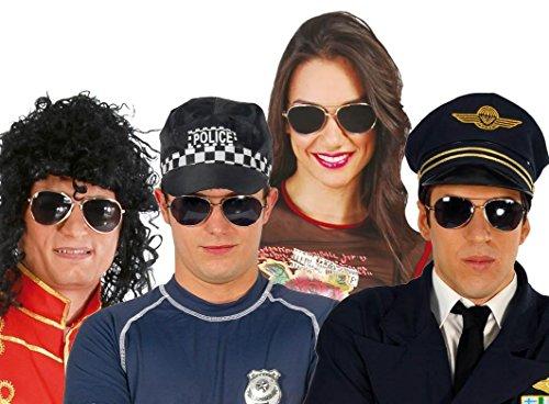 Kostümzubehör Getönte Brille für Polizistin Polizist Polizei Flieger Spezialeinheit Kostüm