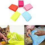 Tierbedarf für Katze und Hund, Haustier-Badtasche-Multifunktionskatzen-Grooming Bag-Katzen-waschende Badtasche-Nagel-Ausschnitt-Medizin (Color : Blue)
