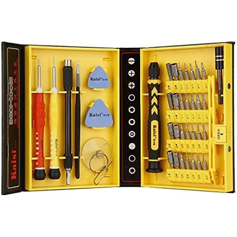 Gearmax® 38 en 1 (38 pieza) precisión multifunción destornillador set reparación de herramientas Kit para el iPad, iPhone, Tablets, ordenadores portátiles, PC, Smartphones, relojes & otros