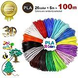 5 Colores Impresi/ón 3D de Pluma Filamento CalmaDragon Filamento para Pluma 3D ABS Brillando en la oscuridad varios colores