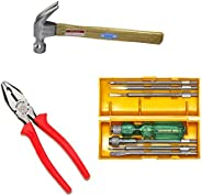 Taparia Steel Tool Kit (Multicolor, 3-Pieces)