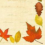 Duni Klassik Servietten Hana 40x40 cm 1/4 Falz 50 Stück, Sevietten Herbst