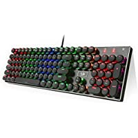 Redragon K556-RK RGB Round Key Tastiera ENGLISH Layout per Gaming USB - Alte Performance – Colori da Videogioco e Retroilluminata – Tastiera da Gioco – Tastiera per Videogame, PC Windows, Mac
