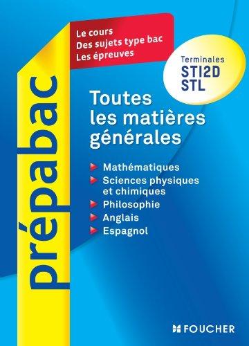 Toutes les matières générales Terminales STI2D - STL