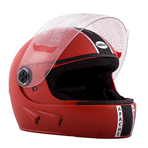 Autofy Habsolite Apache Full Face Helmet (Red, M)