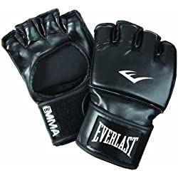 Everlast Martial Arts PU Open Thum Guanto da Grappling, Nero, S-M