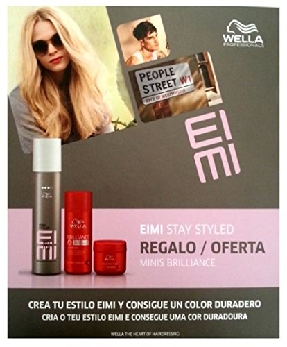 Cheveux Wella Set EIMI Stay Styled de laque 75ml et 50ml Brilliance Shampooing Brillance & Hair Mask 25ml