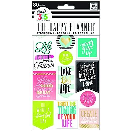 Me and My Big Ideas Create 365 - Adesivi per planner, confezione da 5fogli, motivo: citazioni sulla vita (lingua inglese)