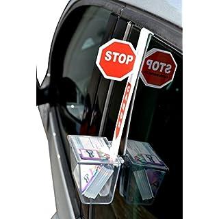Visitenkarten KFZ-Fenster Halterung CardCourier STOP KFZ-Werbung Außendienst