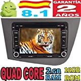 Seat Leon Android 8.1 Quad Core 2GB RAM 16 GB ROM GPS Radio Coche DVD AUTORADIO