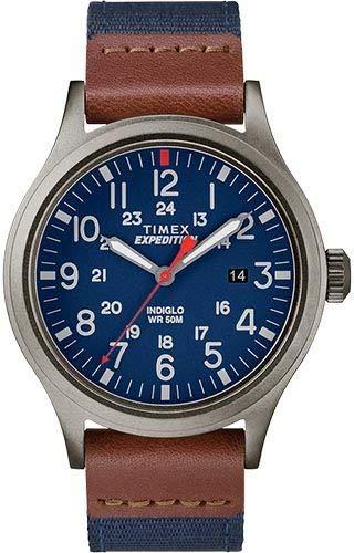 Timex Herren Analog Klassisch Quarz Uhr mit Stoff Armband TW4B14100
