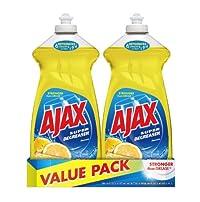 Ajax Dish Wash Liquid, Lemon, 30 ounce, 2 Count