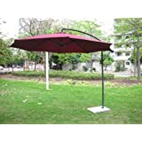 Invezo Impression Luxury Side Pole Heavy Duty Umbrella-Garden Umbrella/Patio Umbrella/Outdoor Umbrella with Base