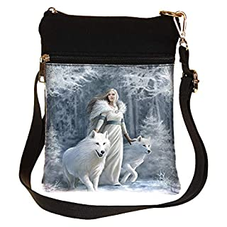 Gothic Winter Guardians Fantasy Wolf Shoulder Bag by Anne Stokes