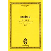 Streichquartett Es-Dur: op. 51. B 92. Streichquartett. Studienpartitur. (Eulenburg Studienpartituren)