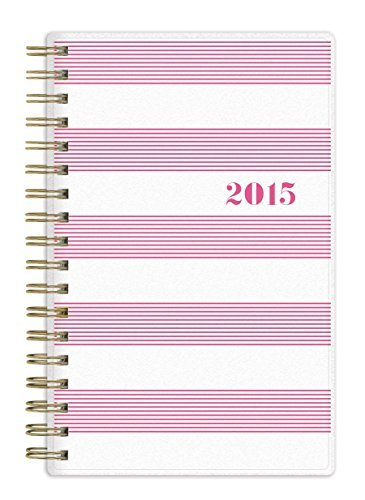 Pink Planner 2015 Monthly (Sugar Paper 2015 Weekly/monthly Planner - Pink and White Stripes by Sugar Paper)