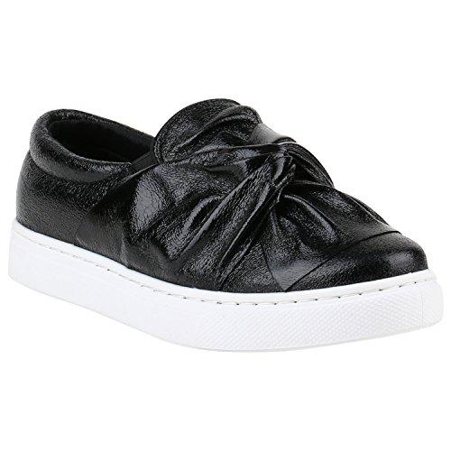 Damen Sneakers Slipper Slip-ons Metallic Kroko Gold Silber New Look Schwarz Schleife
