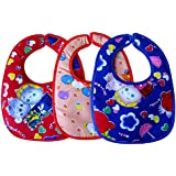 Littly Bibs Combo (Pack of 3, Multicolor)