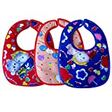 Littly Velcro Bibs Combo, Pack of 3 (Multicolor)