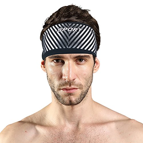 Doubleer Sports Headband Athletic Yoga Fitness Sweatband Workout Running Cycling Hiking Headbands For Men Women