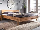 Massivholzbett Liano 180x200 Wildeiche geölt Doppelbett Ehebett Schlafzimmer Holzbett Bett