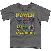 Power Rangers - - Los niños pequeños guardabosques Heads Camiseta