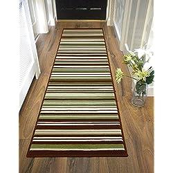 Alfombra larga, moderna, peluda para pasillo en múltiples colores y medidas