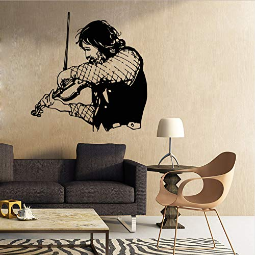 Wand Geige Musikinstrumente Wandbild Dekoration Musik Studio Vinyl Aufkleber 57X59 cm ()