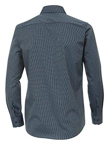 CASAMODA Herren Businesshemd bügelfrei 100% Baumwolle - Modern Fit Dunkelblau