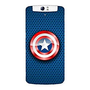 War Shield Clean Back Case Cover for Oppo N1