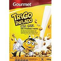 Gourmet - Trigo inflado con miel - con 8 vitaminas y hierro - 500 g