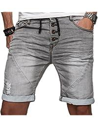 Sublevel Herren Jogg Jeans Shorts kurze Hose Bermuda Sommer Short Sweathose Slim