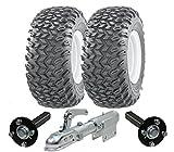 Hochleistungs-ATV-Anhänger-Kit - Quad-Anhänger - Wanda-Räder + SteelPress-Produktion Naben- / Achsschenkel-Achsen, schwenkbare Anhängerkupplung Schwerlast 900kg
