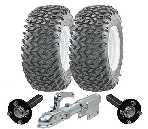 Hochleistungs-ATV-Anhänger-Kit - Quad-Anhänger - Wanda-Räder + SteelPress-Produktion Naben- / Achsschenkel-Achsen, schwenkbare Anhängerkupplung Schwerlast 900kg (22 10 11 Atv Reifen)
