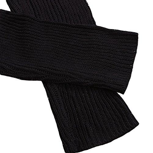 EOZY Femmes Casual Manche Longue Col Rond Pull Manteau Chemisier Noir