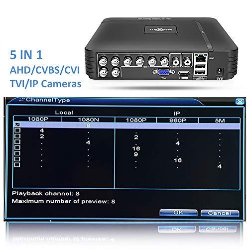 AOEIUV AHD 1080N 4CH 8CH CCTV Mini-DVR 5IN1 für CCTV-Kit VGA HDMI-Sicherheitssystem Mini-NVR für 1080P-IP-Kamera Onvif DVR PTZ H.264,8CH - Ptz Mit Dvr