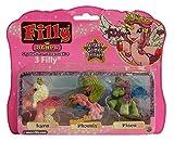 Filly Dracco Glitzer Stars 3er-Set Spiel- und Sammelfiguren für Kinder (Lyra, Phoenix, Pisca)