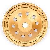 APLUS Diamant Schleiftopf 230mm x 22,2mm Topfschleifer Topfscheibe doppelreihig für Beton Stein Mauerwerk (230mm)