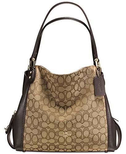Coach, Borsa a spalla donna Light Gold/Khaki/Brown