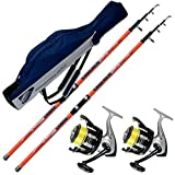 Evo fishing KIT SURFCASATING 2 CANNE CATCHER 420 CM 200 GR + 2 MULINELLI TRABUCCO DAYTON 6500 + FODERO PORTACANNE