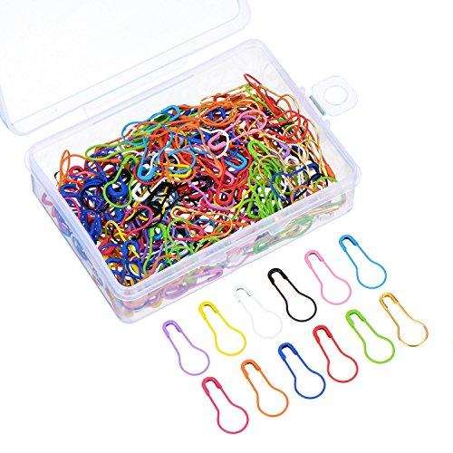 240 Stück Birne Pins Kürbis Sicherheitsnadeln Metall Calabash Pins mit Aufbewahrungsbox für DIY Handwerk machen und Kleidung, 12 Farben (Sicherheitsnadeln Handwerk)