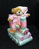 Windeltorte rosa, Windel-Lokomotive, Windelzug, Pampers Gr.3, Baby Geburt, Geschenk zum Taufe, Babyparty Mädchen