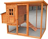HEN HOUSE CHICKEN COOP LARGE 2 METRE LONG POULTRY LUXURY HOME NEST RUN COUP NEW