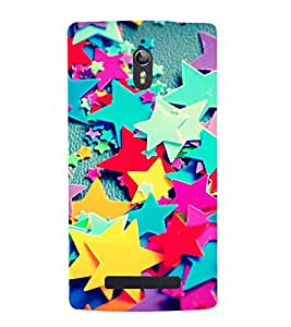 Fiobs Designer Back Case Cover for Oppo Find 7 :: Oppo Find 7 QHD :: Oppo Find 7a :: Oppo Find 7 FullHD :: Oppo Find 7 FHD (Star Pink Greeen Yellow Blue Violet)