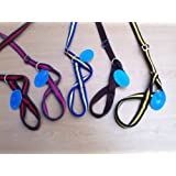 CUSHION PADDED 5 NEW COLOURS FIGURE OF EIGHT ALL IN 1 ALL IN ONE DOG HEADCOLLAR and slip lead stops pulling dog puppy 2 in 1 lead (Brown)