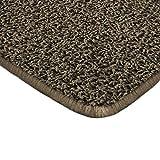 Floori Shaggy Hochflor Teppich - 100x150cm - moderner Wohnzimmerteppich - braun