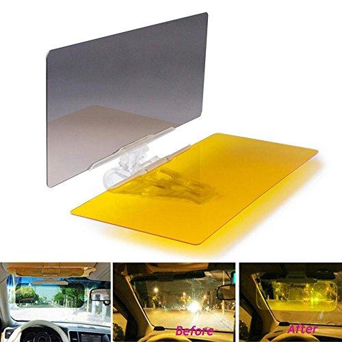 Blendschutz Auto, KOBWA 2 in 1 Auto Sonnenblende Auto Sonnenschutz Sichtschutz Tag und Nacht Fahren Sonnenblende, Klare Sicht, Sicher Fahren