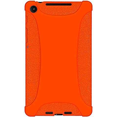 Amzer Exclusive Silicone Skin Jelly Case Cover for Google Asus Nexus 7 2nd Gen 7.2 2013 - Orange