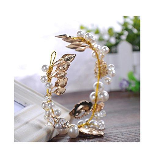 Fascia del cappello ornato decorativo Wedding fascia Faux perla Xagoo per la cerimonia (stile 1) - Ornato Spilla Pin