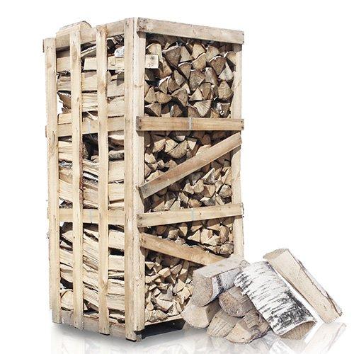 PALIGO Brennholz Kaminholz Feuerholz Grillholz Ofenholz Smokerholz Scheitholz Birken Holz Trocken Ofenfertig Birke 33cm 2RM = 2,8SRM / 1 Palette HEIZFUXX®
